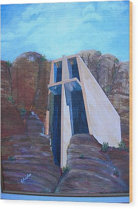 Chapel In The Mountains Wood Print by Jack Hampton