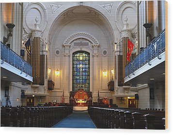Chapel Interior - Us Naval Academy Wood Print