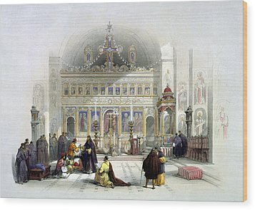 Chapel Of The Convent Of St Saba Wood Print by Munir Alawi
