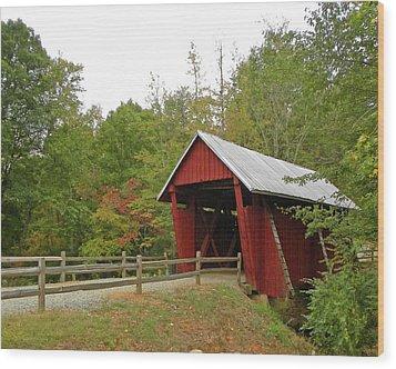 Chapman Bridge Wood Print by Larry Bishop