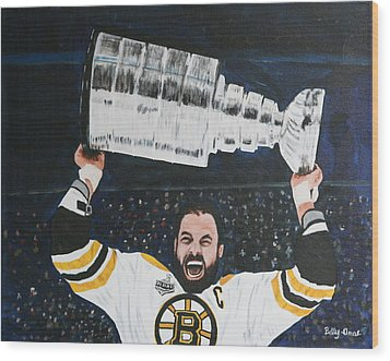 Chara And The Cup Wood Print by Betty-Anne McDonald