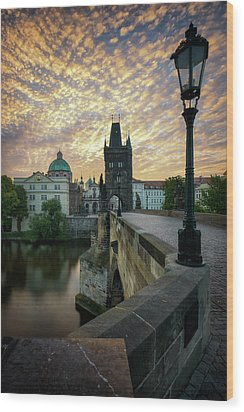 Charles Bridge, Prague, Czech Republic Wood Print