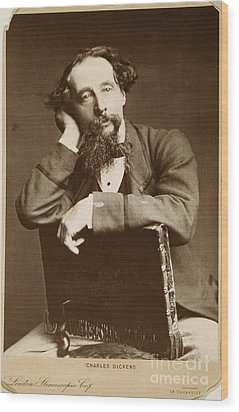 Charles Dickens Wood Print by Granger