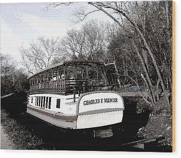 Charles E Mercer - Great Falls Md Wood Print by Fareeha Khawaja