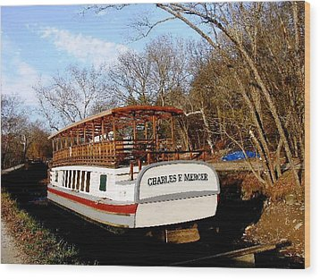 Charles E Mercer Boat - Great Falls Md Wood Print by Fareeha Khawaja