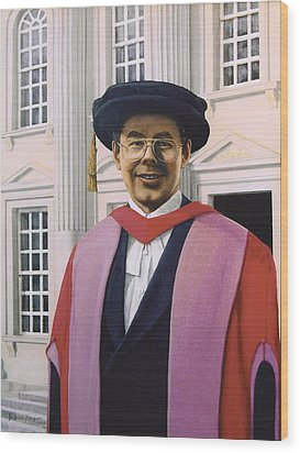 Charles Harpum Receiving Doctorate Of Law Wood Print by Richard Harpum