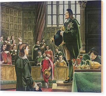 Charles I In The House Of Commons Wood Print by English School