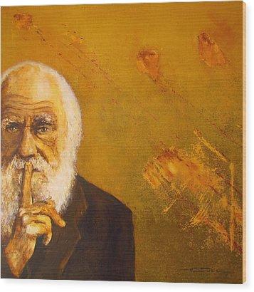 Charles R. Darwin Wood Print by Eric Dee