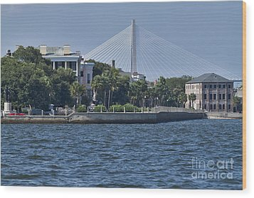 Charleston Battery Row And Bridge  Wood Print by Dustin K Ryan