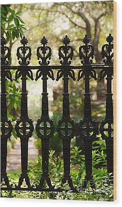 Charleston Fence Wood Print