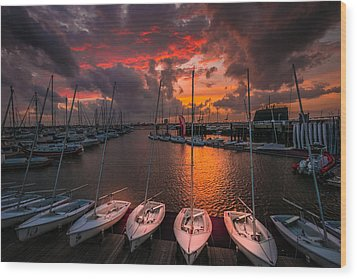 Wood Print featuring the photograph Charleston Harbor by RC Pics