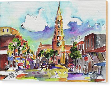 Charleston North Market Street Wood Print