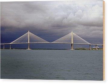 Charleston Ravenel Bridge Wood Print by Skip Willits