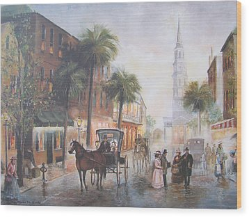 Charleston Somewhere In Time Wood Print by Charles Roy Smith
