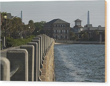 Charleston South Carolina Waterfront Battery Wood Print by Dustin K Ryan