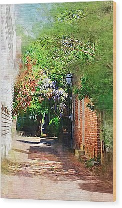 Wood Print featuring the photograph Charlestons Alley by Donna Bentley