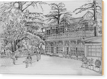 Wood Print featuring the drawing Charleville by Padamvir Singh