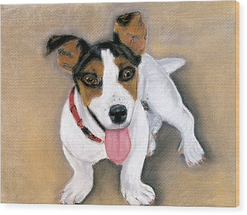 Wood Print featuring the pastel Charley by Jan Amiss
