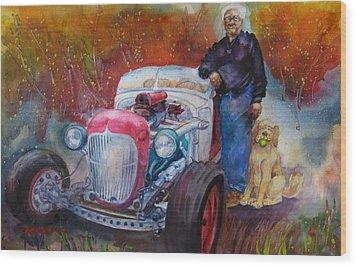 Charlie And Bella's Ride Wood Print