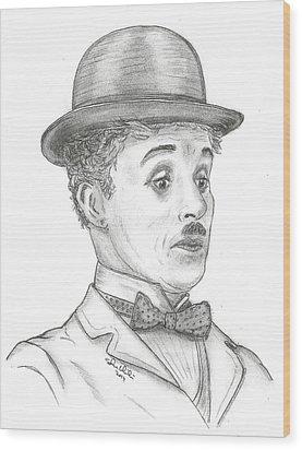 Charlie Chaplin Wood Print by Steven White