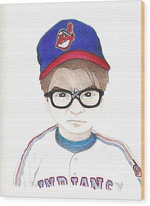 Charlie Sheen A.k.a Rick Vaughn Wood Print by Gerard  Schneider Jr