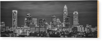 Charlotte Greyscale Wood Print by Brian Young
