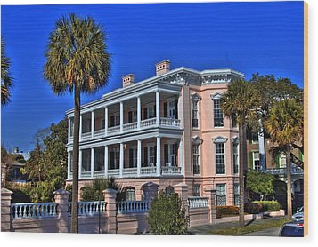 Charlston Battery Mansion Wood Print by Corky Willis Atlanta Photography