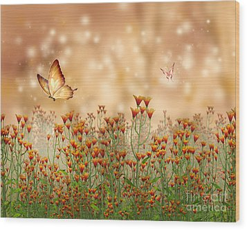 Charmed Blossoms Wood Print