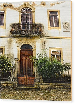 Wood Print featuring the photograph Charming House In Portugal by Marion McCristall