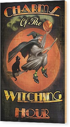 Charms Of The Witching Hour Wood Print by Joel Payne