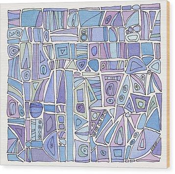 Chasing The Blues Wood Print by Linda Kay Thomas