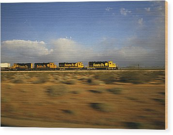 Chasing The Desert Wind Wood Print by Susan  Benson