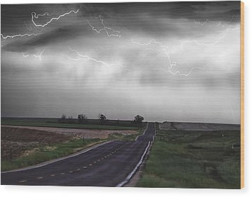 Chasing The Storm - Bw And Color Wood Print by James BO  Insogna