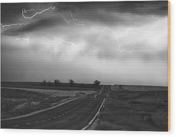 Chasing The Storm - County Rd 95 And Highway 52 - Colorado Wood Print by James BO  Insogna