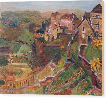 Chateau Chalon Wood Print