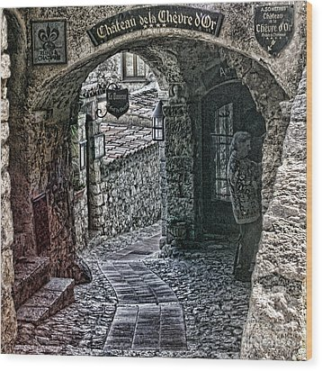 Chateau De La Chevre D'or Wood Print
