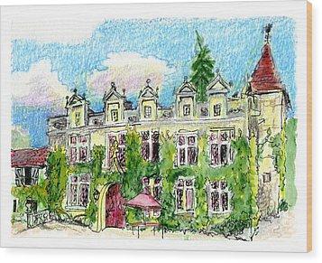 Chateau De Maumont Wood Print
