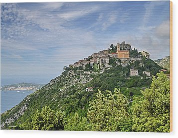 Chateau D'eze On The Road To Monaco Wood Print by Allen Sheffield