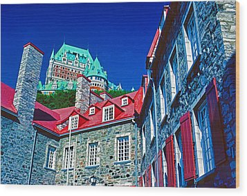 Chateau Frontenac Wood Print by Dennis Cox