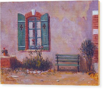 Chateau Pioget  Loire Valley France Wood Print by David Olander