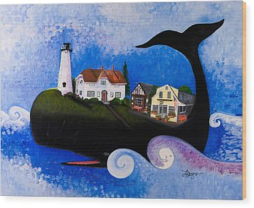 Chatham - A Whale Of A Town Wood Print by Theresa LaBrecque
