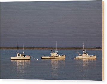 Chatham Bay Wood Print by Nick  Shirghio