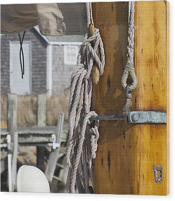 Wood Print featuring the photograph Chatham Old Salt by Charles Harden