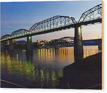 Chattanooga Nites Wood Print