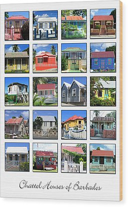 Chattel Houses Of Barbados Wood Print by Barbara Marcus