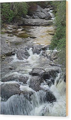 Chattooga River In South Carolina Wood Print by Bruce Gourley