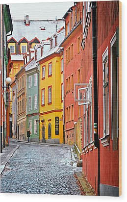Cheb An Old-world-charm Czech Republic Town Wood Print by Christine Till