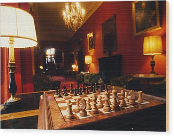 Check Mate At Dromoland Wood Print by Carl Purcell