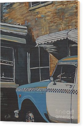 Checker Cab Wood Print