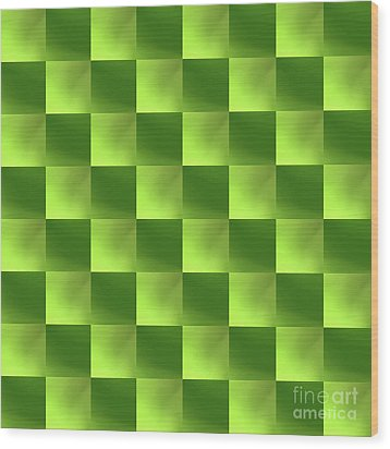 Checkerboard Wood Print